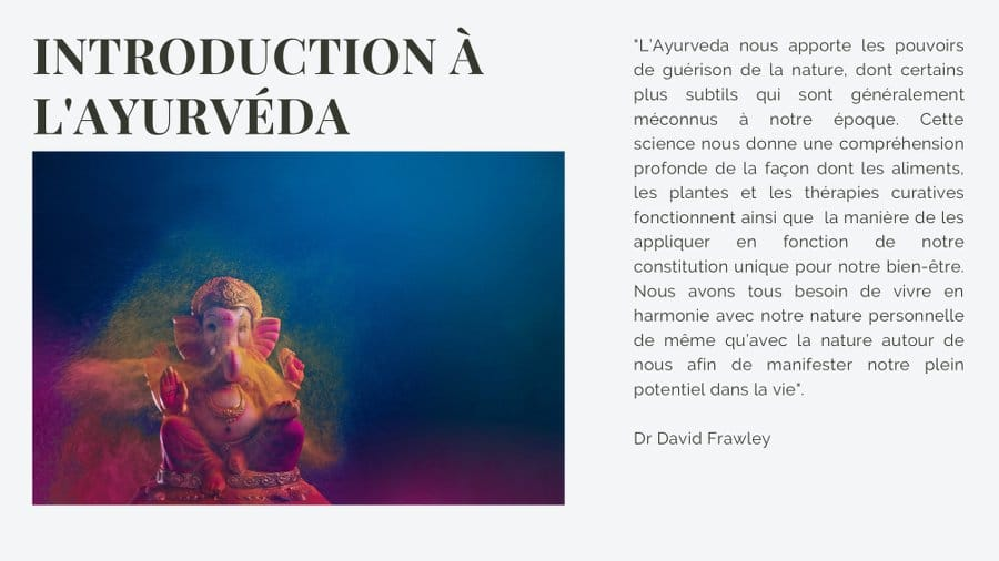 Citation David Frawley - Interet de l Ayurveda