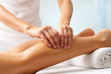Massage therapeutique jambes lourdes