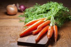 Preparation de carottes facon vegan